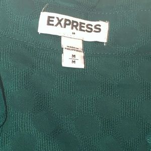 Express Green Portafino Shift Sz M